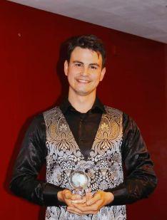 Manzano en la entrega de la IX Edición de los Premios Atlantis el pasado 30 de noviembre. // CharryTV