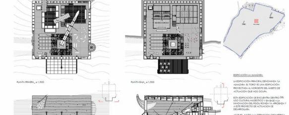 Los planos del proyecto urbanístico de la almazara museo que ya se ha remitido a la delegación de Obras y Urbanismo del Ayuntamiento de Ronda. // CharryTV