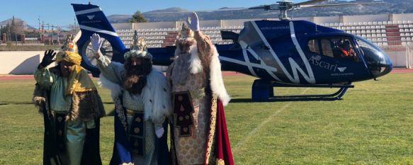 Los Reyes Magos llegan en helicóptero a Ronda por tercer año consecutivo, A las 17.00 horas comenzará su recorrido la Cabalgata, que…, 05 Jan 2019 - 13:45