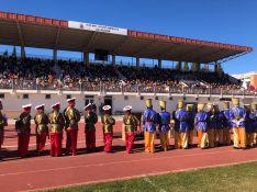 Las gradas del estadio se han vuelto a quedar pequeñas para recibir a Sus Majestades. // CharryTV