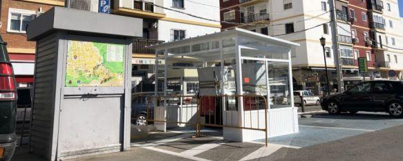 La zona azul del Cuartel de la Concepción se convertirá en parking público, En el terreno han comenzado a instalarse parquímetros similares…, 09 Jan 2019 - 19:10