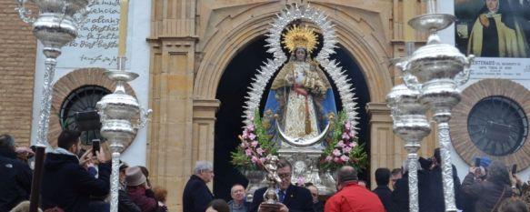 Cientos de fieles salieron a la calle para acompañar en su día a la Patrona de Ronda , Los cultos a Nuestra Señora de la Paz concluían ayer jueves con el traslado de la imagen desde la Iglesia de la Merced hasta su Santuario y otros cultos en su honor, 25 Jan 2019 - 18:23