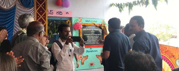 Se inaugura una escuela en India gracias a la solidaridad rondeña, Los 19.000 euros recaudados durante el entierro de los tres rondeños fallecidos en el país en 2017 han hecho realidad este proyecto de la Fundación Vicente Ferrer, 05 Feb 2019 - 12:37