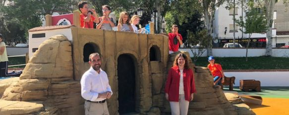 """Queda inaugurado el parque infantil la """"Pequeña Ronda"""", Un espacio temático que recrea elementos de nuestra ciudad y que ha requerido de una inversión superior a los 227.000 euros procedentes del superávit presupuestario, 28 May 2019 - 19:10"""