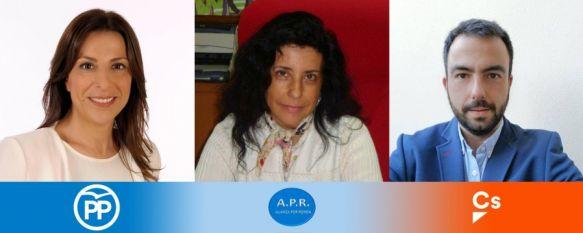 De izquierda a derecha: Mª Paz Fernández, Josefa Valle y Alberto Serrano  // Juan Velasco