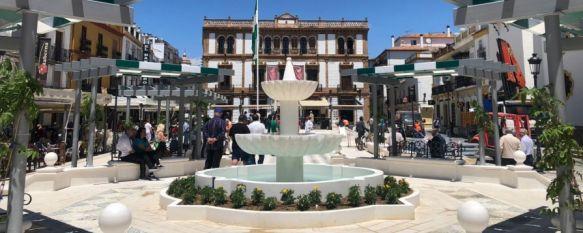 Concluyen las obras de la Plaza del Socorro con una imagen que rememora el pasado, La remodelación del espacio, junto con las actuaciones de mejora en las plazas de España y de Carlos Cano, ha conllevado una inversión de 250.000€, 14 Jun 2019 - 17:07