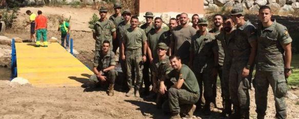 La Legión instala un puente provisional que permite ya el acceso a la Cueva del Gato, El Ayuntamiento de Benaoján continúa trabajando con otras…, 17 Jul 2019 - 16:37