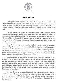 Comunicado de Francisco Rivera Ordóñez. // CharryTV