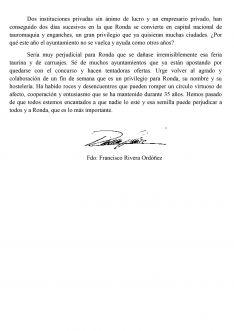 Comunicado de Francisco Rivera Ordóñez (II). // CharryTV