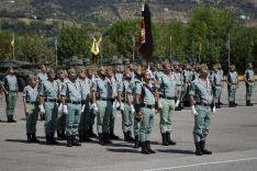 Imagen de la parada militar, celebrada en la Plaza de Armas del Acuartelamiento de Ronda // Juan Velasco