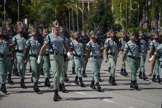 Efectivos del Grupo de Caballería Reyes Católicos, II de La Legión, durante el desfile // Juan Velasco
