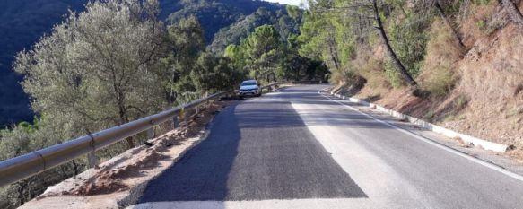 La Diputación finaliza los arreglos en varias carreteras afectadas por el temporal, Los trabajos, ejecutados en las vías que unen Estepona-Ubrique, Algatocín-Jubrique y la A-7 con Casares; han supuesto una inversión superior a 740.000 euros , 15 Nov 2019 - 18:29