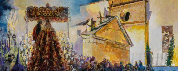 La hermandad de Padre Jesús centra el cartel oficial de la Semana Santa de Ronda 2020, La obra es una pintura de la artista sevillana Nuria Barrera que ha sido presentada esta noche en el Convento de Santo Domingo , 17 Jan 2020 - 21:45