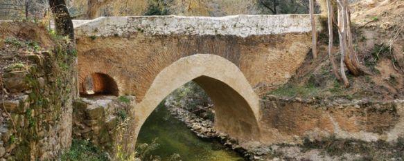 Puente de origen medieval en el paraje de