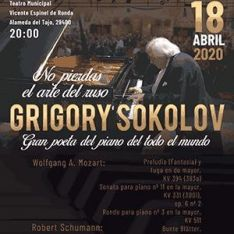 Cartel de presentación del concierto de Sokolov en Ronda. // CharryTV