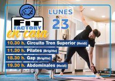 Programa de entrenamiento de Fit Factory para el día de hoy. // Fit Factory