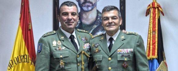 Salom y Armada, momentos antes de la toma de posesión del segundo como coronel jefe del 4º Tercio en diciembre de 2016 // Javier García