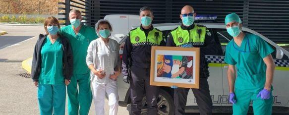 El detalle de una rondeña con los profesionales del Hospital Comarcal de la Serranía , Mª Jesús Aguilar les ha hecho llegar un trabajo elaborado…, 05 Apr 2020 - 18:42