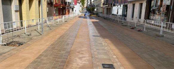 Las obras de la calle Virgen de la Paz están ejecutadas al 80%