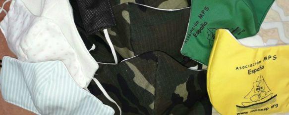 Un grupo de 17 vecinas de Montejaque crean mascarillas con telas aislantes , Estos accesorios están siendo distribuidos por el Ayuntamiento montejaqueño entre los vecinos, y entre sanitarios y Cuerpos y Fuerzas de Seguridad, 10 Apr 2020 - 12:30