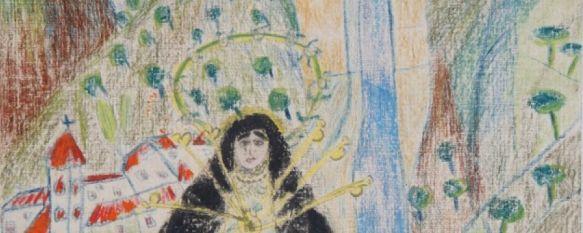 """""""Virgen de los Siete Dolores"""", el dibujo de Lorca que parece reflejar el Puente Nuevo, El poeta ilustró una imagen mariana en 1924, que colgaba de la cabecera de su cama de su residencia de estudiantes en Madrid, y que regaló al pintor Gregorio Prieto, 13 Apr 2020 - 11:35"""