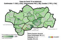 El distrito sanitario de la Serranía continúa siendo el sexto con menos casos de Andalucía. // Juan Velasco