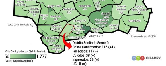 COVID-19: Solo un nuevo contagio en las últimas 24 horas en el Área Sanitaria Serranía, Se mantiene el número de fallecidos por la pandemia (11), al igual que el de curados (39) e ingresos acumulados (28), 26 Apr 2020 - 13:44