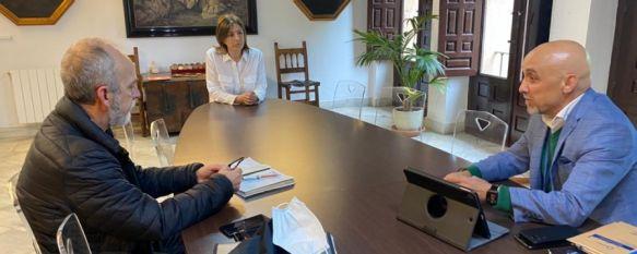 La alcaldesa y responsables sanitarios analizan la evolución de la pandemia en Ronda, El gerente y el Director de Salud informan a Fernández de que el Hospital se mantiene sin ingresos asociados al virus y la enfermedad progresa de forma favorable, 12 May 2020 - 14:04