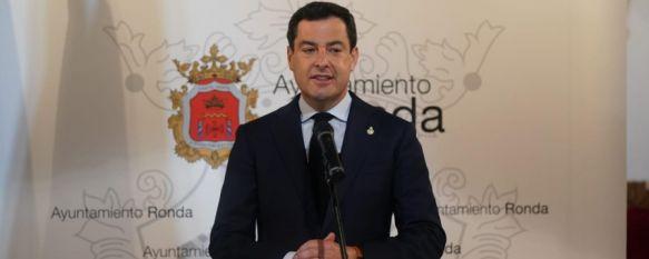 Juanma Moreno reitera su compromiso de construir la autovía en Ronda, El presidente de la Junta ha visitado el yacimiento arqueológico de Acinipo, al que el gobierno andaluz ha destinado 500.000€ para su rehabilitación y puesta en valor, 27 May 2020 - 19:00