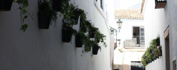 El Ayuntamiento de Ronda decora el casco histórico con macetas en las paredes, Se ha actuado en cuatro puntos, pero la decoración floral se ampliará a otras zonas del conjunto monumental, 02 Dec 2011 - 15:37