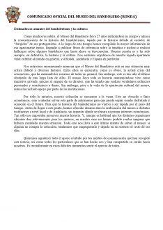 Como se recoge en el comunicado emitido por el museo, las instituciones han dado la espalda al proyecto que Jesús Almazán emprendió en 1995. // Museo del Bandolero