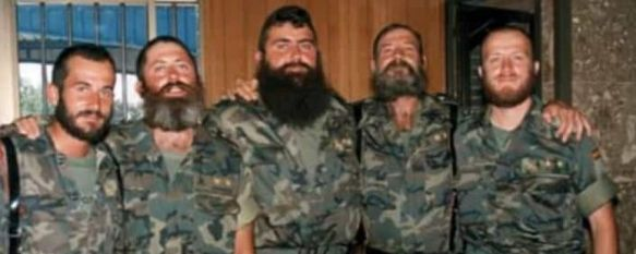 El teniente coronel José Recena, segundo por la derecha, falleció la pasada semana  // Luis Gutiérrez