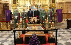 Una representación del 4º Tercio participó antes del acto en una Eucaristía en honor al Santo Cristo Yacente // Antonio Sánchez