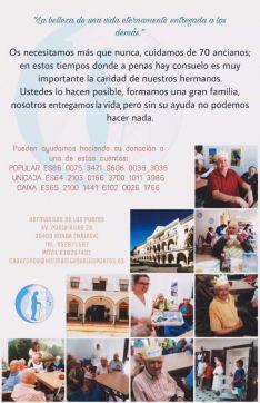 Las Hermanitas de los Pobres piden a los rondeños que se solidaricen con su situación aportando un donativo. // Hermanitas de los Pobres