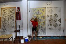 El alcalde de la localidad explica que, además de los Encuentros de Arte, el pueblo desarrolla diferentes iniciativas culturales entre las que destacan Lumen, Arte Vivo, exposiciones, talleres o conferencias. // José Antonio Gallardo