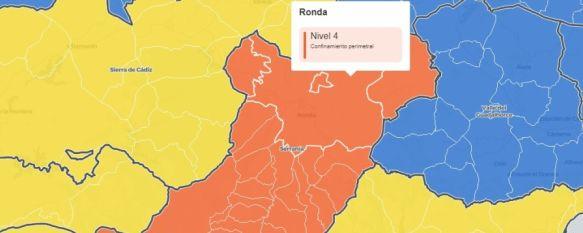 La Serranía, único distrito malagueño en Nivel de Alerta 4, y el tercero de Andalucía