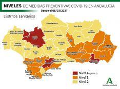 Una semana más el Área Sanitaria Serranía permanece en el nivel 4 de alerta COVID, al igual que otros dos distritos andaluces. // Junta de Andalucía