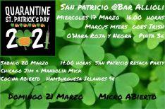 El Bar Allioli dará cabida a actuaciones musicales con motivo del Día de San Patricio. // Bar Allioli