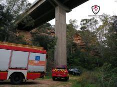 La intervención se ha saldado sin personas atrapadas y el herido ya se encuentra en el Hospital Comarcal. // CPB Málaga