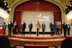 El Teniente General José Rodríguez, junto a los 10 embajadores que han recibido hoy su cédula en el Cuartel General de la Fuerza Terrestre. // CharryTV