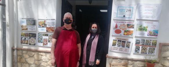Rafael Pimentel y Amalle Saab abrieron las puertas de su pastelería el pasado mes de octubre. // María José García