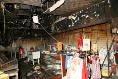 Estado del establecimiento tras el incendio de 2013 // CharryTV