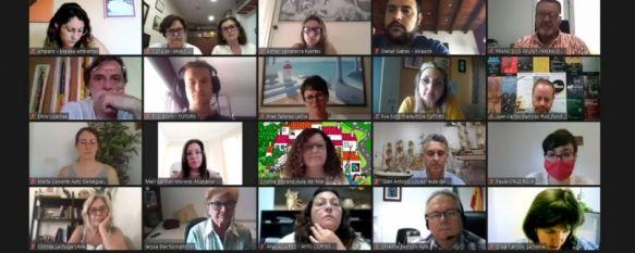 Alcaldes y representantes de asociaciones e institucionales han participado en esta primer encuentro virtual. // Diputación de Málaga