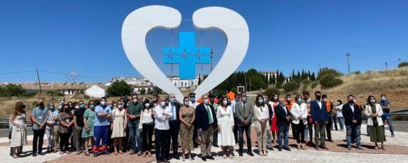 Una escultura para homenajear a los sanitarios por su labor durante la pandemia, La obra ha corrido a cargo de la empresa local Siderurgia Ronda y ha contado con una inversión de 15.000 euros en la que ha colaborado la Fundación Unicaja, 21 Jun 2021 - 18:36