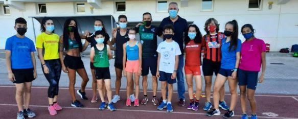 Todos estos atletas están siendo entrenados por Paco Montesinos. // Ayuntamiento de Ronda