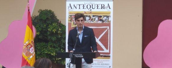 El rondeño tomó la palabra para agradecer todo el apoyo recibido.  // Juan Velasco