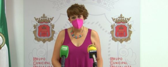Pepi Cabrera en la sede del PSOE de Ronda // CharryTV