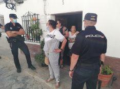 Purificación ha estado acompañada de varios familiares, entre ellos su cuñada Isabel // P. González