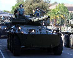 En el desfile participaron también vehículos motorizados de varias unidades.  // Manolo Guerrero