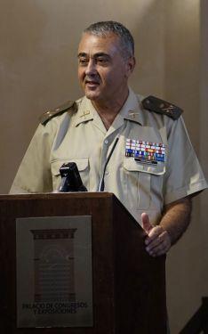 El general Antonio Esteban, durante su intervención // Juan Velasco